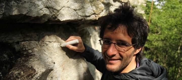 Una falesia (Lodrino) e un arrampicatore (Francesco Pellanda)